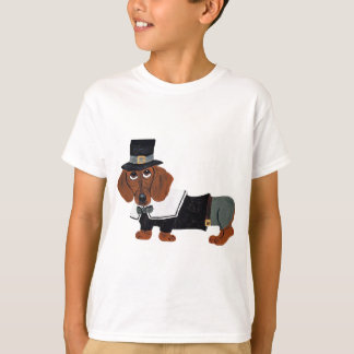 Tshirts Peregrino de Thanksgviving do Dachshund