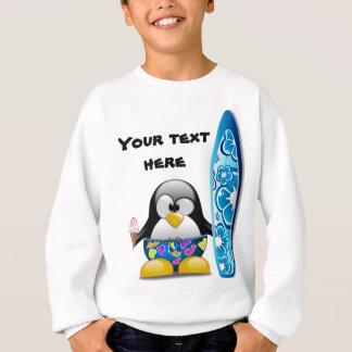 Tshirts Pinguim do surfista com sorvete