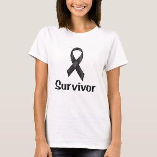 Tshirts Preto do sobrevivente de câncer
