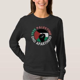 Tshirts Preto livre do punho da bandeira do Apartheid do