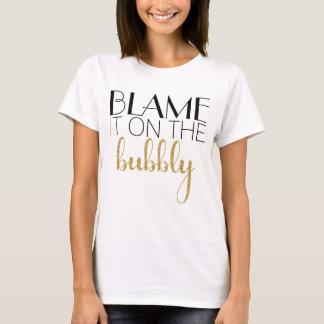 Tshirts Responsabilize-o no borbulhante - ouro