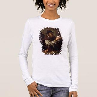 Tshirts Retrato de um ancião com uma cebola (óleo no canva