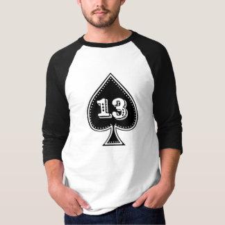 Tshirts Rock and roll do número 13 do ás de espada