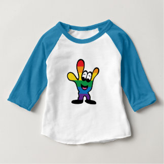 Tshirts Roupa americano do bebê de ILY 3/4 de Raglan