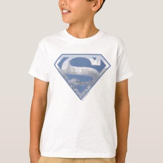 Tshirts S-Protetor | do superman claro - logotipo azul da