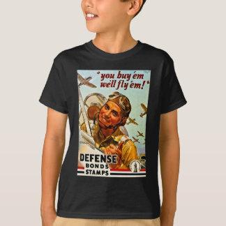 Tshirts Selos das ligações de defesa da segunda guerra