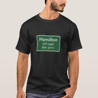 Tshirts Sinal dos limites de cidade de Hamilton, IL