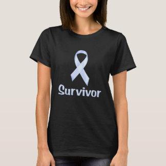 Tshirts Sobrevivente de câncer azul pálido