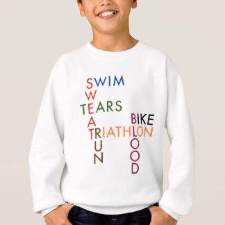 Tshirts Suor e rasgos do sangue do Triathlon