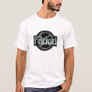 Tshirts T desvanecido/texto preto