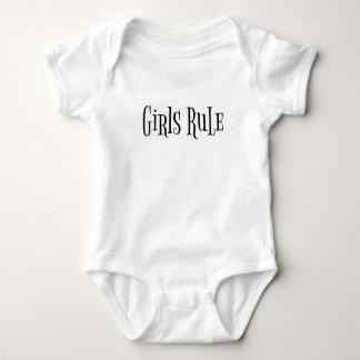 Tshirts Terno do bebê da regra das meninas