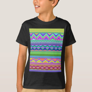 Tshirts Teste padrão asteca abstrato colorido