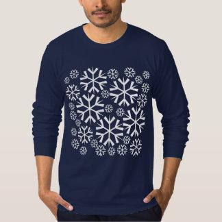 Tshirts Teste padrão branco dos flocos de neve