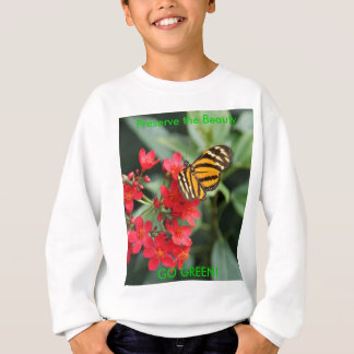Tshirts VAI O VERDE! Cores da borboleta do primavera