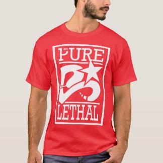 Tshirts Vermelho letal puro de 100%