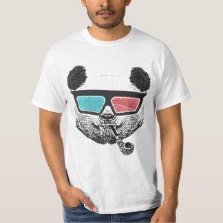 Tshirts Vidros 3-D da panda do vintage