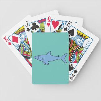 Tubarão azul baralhos de cartas
