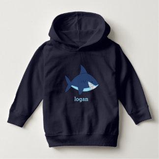 Tubarão azul do divertimento tshirts