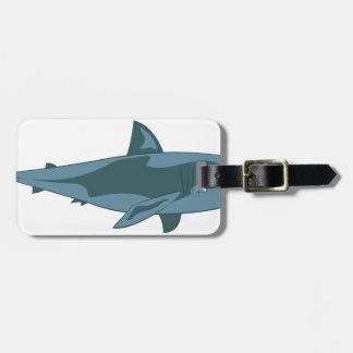 Tubarão Etiqueta De Bagagem