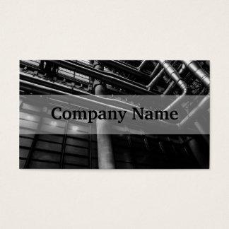Tubulações industriais preto e branco, arquitetura cartão de visitas