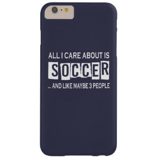 Tudo cuidado de I é aproximadamente futebol Capas iPhone 6 Plus Barely There