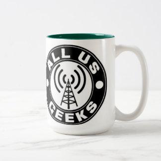 Tudo nós copo de café dos geeks caneca dois tons