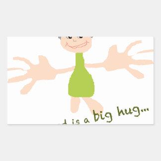 Tudo que eu preciso é um abraço grande - gráfico e adesivo retangular