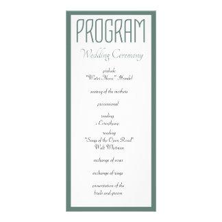 Tudo que você precisa é programa do casamento do 10.16 x 22.86cm panfleto
