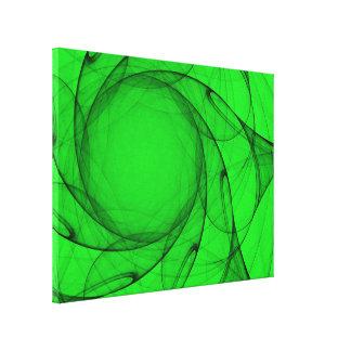 Tulle verde abstrato Sun Impressão Em Canvas
