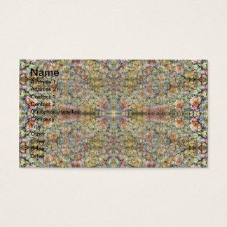 Túnel floral cartão de visitas