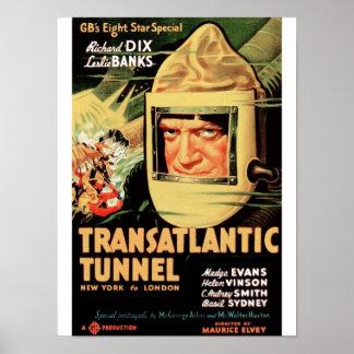 Túnel transatlântico pôster