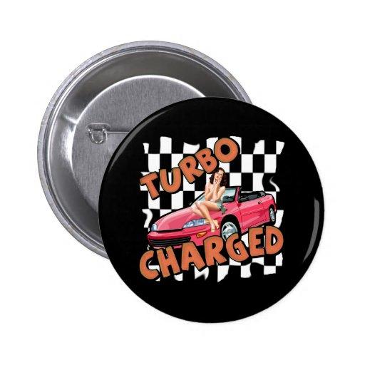 Turbo carregou t-shirt e presentes para ele boton