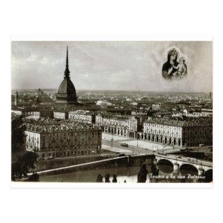 Turin, Torino, opinião da cidade Cartão Postal