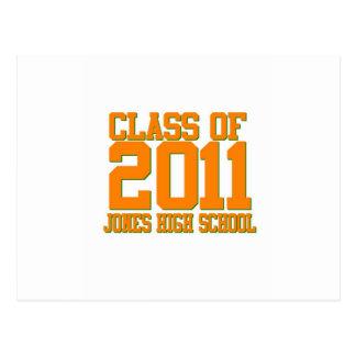 Turma da escola secundária de Jones de 2011 Cartão Postal