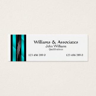 Turquesa do aqua do monograma do advogado do cartão de visitas mini