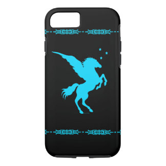 """Turquesa Pegasus 2"" capas de iphone pretas"