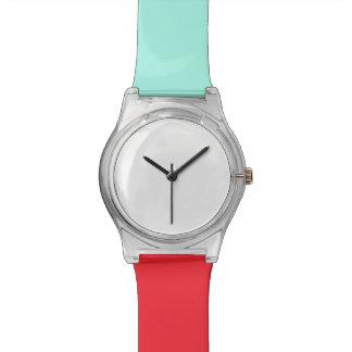 Turuoise e relógio vermelho de May28th
