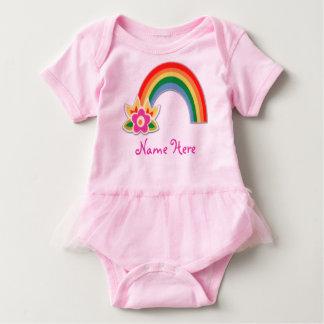 Tutu cor-de-rosa personalizado do arco-íris para t-shirt