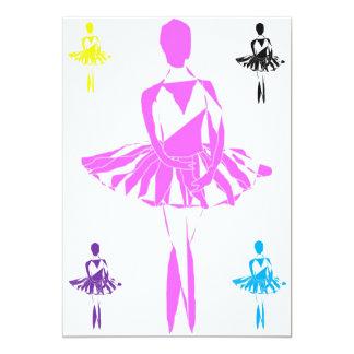 tutu da cisne da bailarina do balé do convite