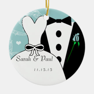 Tux & enfeites de natal do casamento do vestido