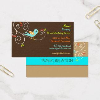 Tweet, tweet. Cor do fundo de SEO Marketing/DIY Cartão De Visitas