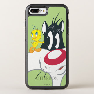 Tweety na pose 12 da ação capa para iPhone 7 plus OtterBox symmetry
