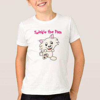 Twinkie o Pom caçoa o tshirt da campainha