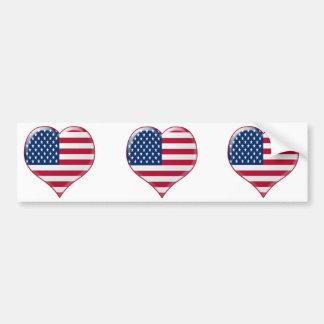 U.S.A. Encanto do coração Adesivo Para Carro