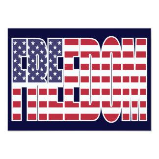 U.S. Bandeira da liberdade Convite 12.7 X 17.78cm