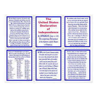 U.S. Declaração do panfleto do bolso da independên