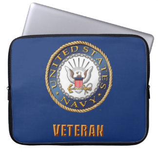 U.S. Saco dos eletrônicos do veterano do marinho Capas Para Computadores