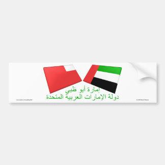 UAE & azulejos da bandeira de Abu Dhabi Adesivo Para Carro