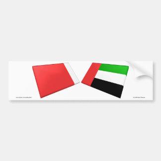 UAE & azulejos da bandeira de Ajman Adesivo Para Carro
