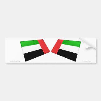 UAE & azulejos da bandeira de Fujairah Adesivo Para Carro